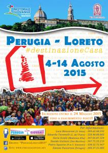Volantino del Pellegrinaggio diocesano Perugia Loreto 2015