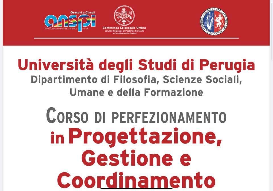 """Corso Di Perfezionamento E Di Alta Formazione In """"Progettazione, Gestione E Coordinamento Dell'oratorio"""" A.a. 2019/20"""
